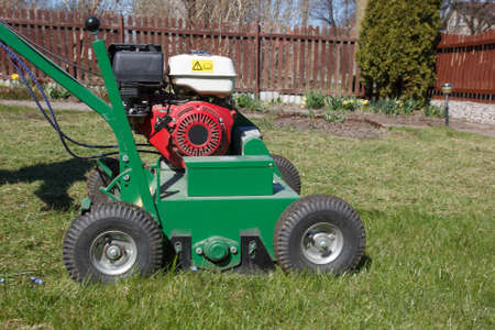Delicieux Lawn Aerator.A Lawn Aerator Is A Garden Tool Or Machine Designed To Aerate  The