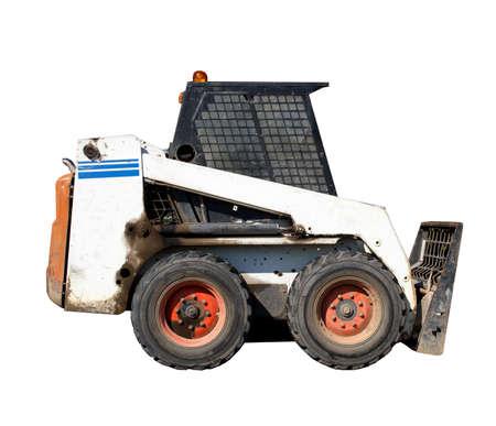 small excavator Bobcat on white  photo