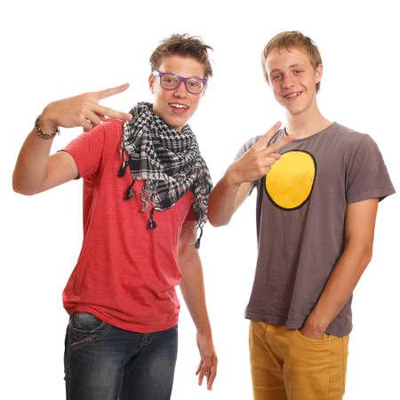 teen boys: Un paio di ragazzi adolescenti divertirsi Archivio Fotografico