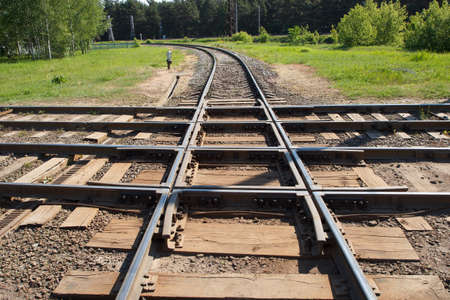 wood railroads: The junction point of multiple old railroads