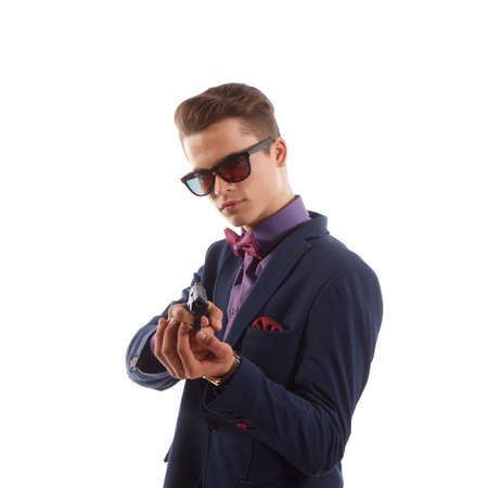 criminal: young formal criminal Stock Photo