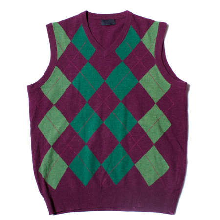 Red and green vest