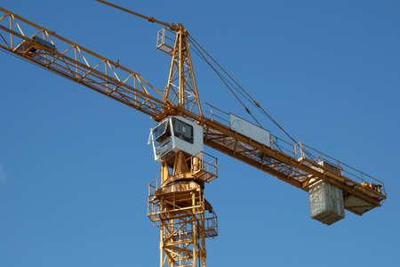 industrial tower crane Stock Photo