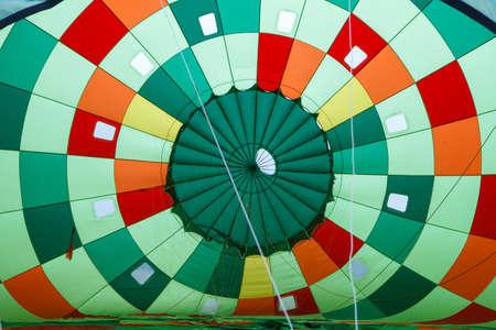 inside in hot air balloon