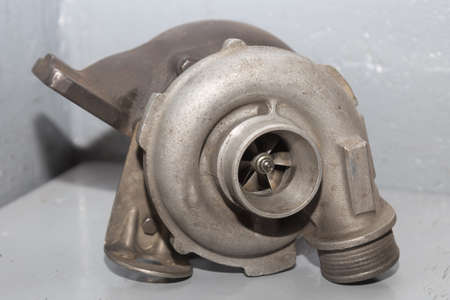 diesel engine turbocharger Stock Photo