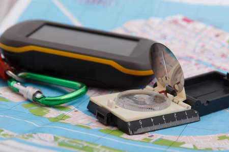 GPS device compass and map