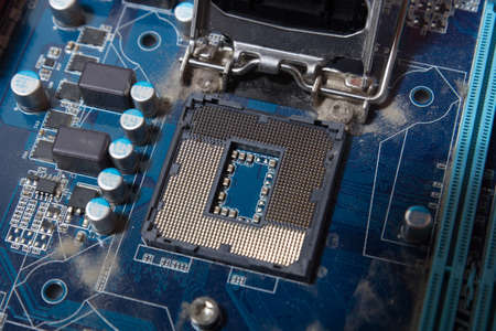 computer CPU socket Stok Fotoğraf