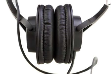 Professional Studio Monitor Headphones on white background