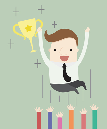 find successful in your job ,vector illustration