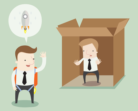 beginnings: Get you thinking and begining outside the box ,vector illustration
