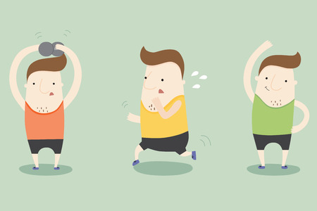 yourself: Exercise by yourself ,vector illustration
