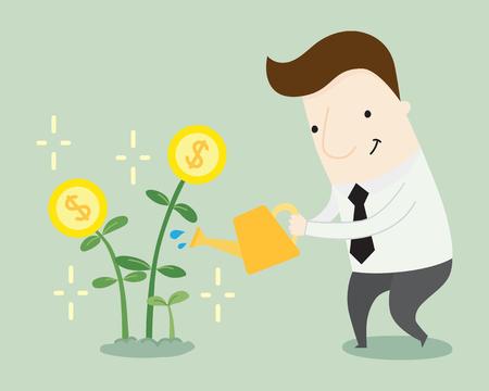growth: Profit growth illustration cartoon