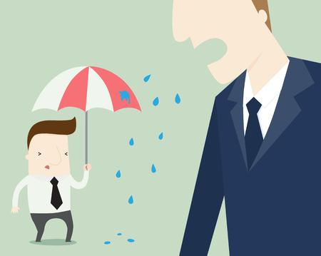 Proyecto quejan de dibujos animados Ilustración de vector