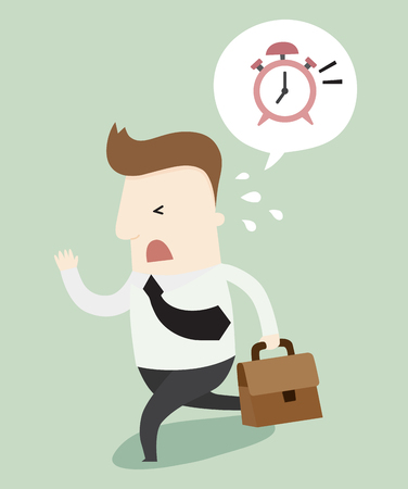 was: I was late for work illustration cartoon Illustration