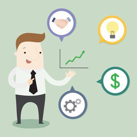 Profit Business Presentation Ideas illustration cartoon