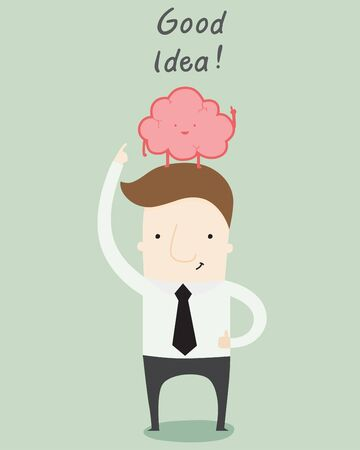 come: Good Idea is come from good brain Illustration