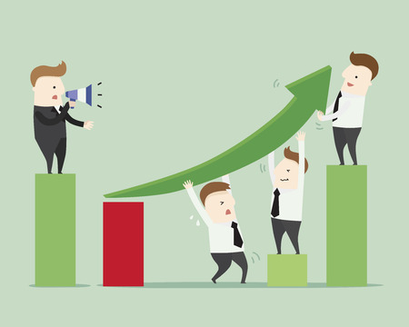 teamwork: Perfectly teamwork ,vector illustration cartoon