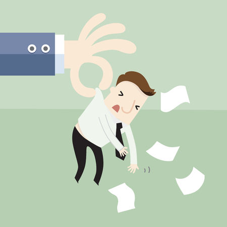 He was sacked from the job ,vector illustration business concept cartoon