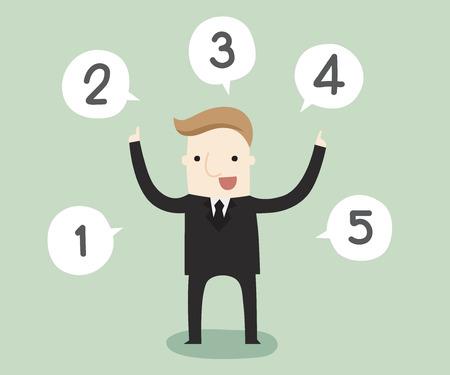 choosing: Choosing task for solve a problem illustration. Illustration