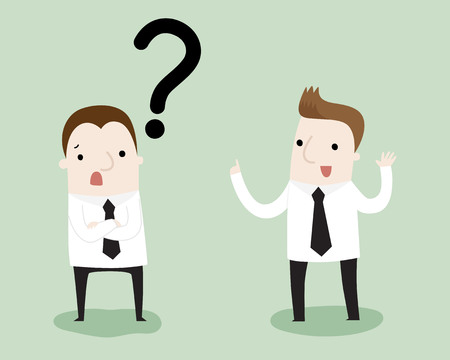 Businessman consult a colleague ,vector and illustration 일러스트