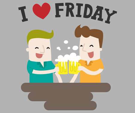 I Love Friday ,vector and illustration