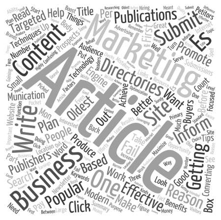 article marketing: 3 Things You Word Cloud Concept