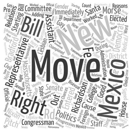 article marketing: Bill Richardson Democrat Word Cloud Concept Illustration