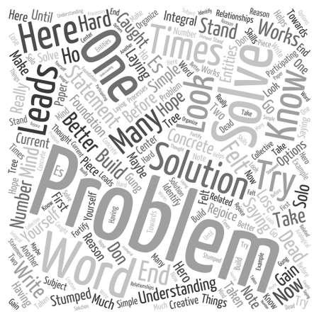 Cada problema tiene Palabra Nube Concepto Foto de archivo - 32410831