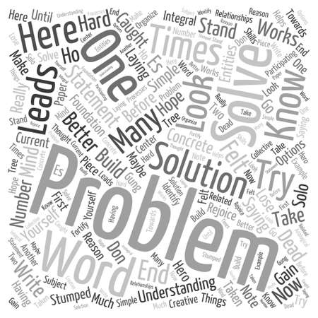 ventures: every problem has Word Cloud Concept