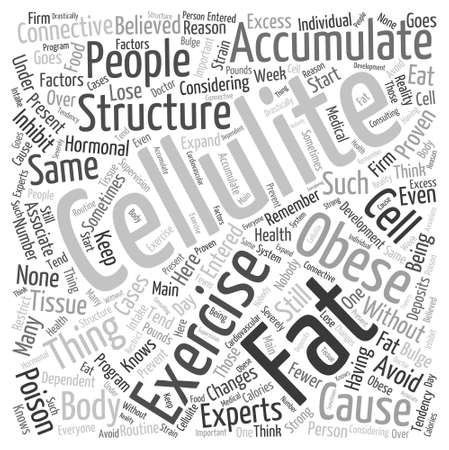exercise and cellulite Word Cloud Concept