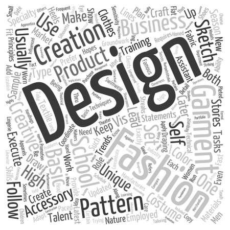 ファッション デザイン高単語雲の概念