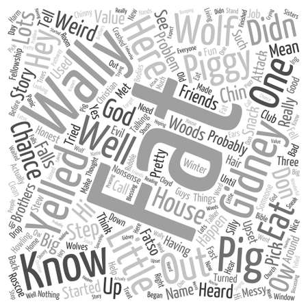 Fat Wally and Word Cloud Concept