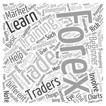 forex trading training Word Cloud Concept