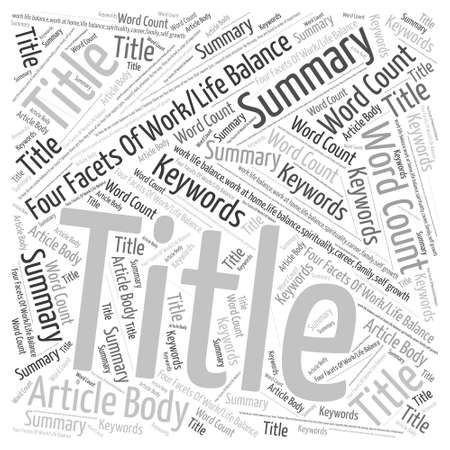 Four Facets Of Word Cloud Concept