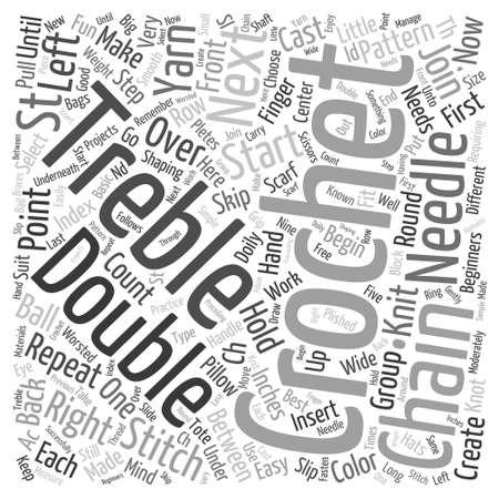 free crochet pattern Word Cloud Concept Çizim