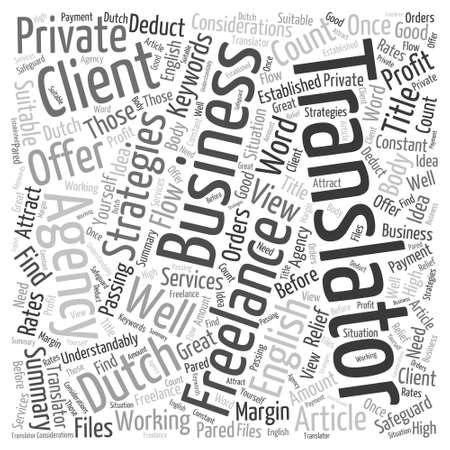 Freelance strategies in Word Cloud Concept