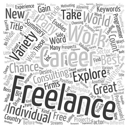 freelancing: Freelancing In A Word Cloud Concept