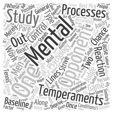 GENERAL TENNIS PSYCHOLOGY Word Cloud Concept