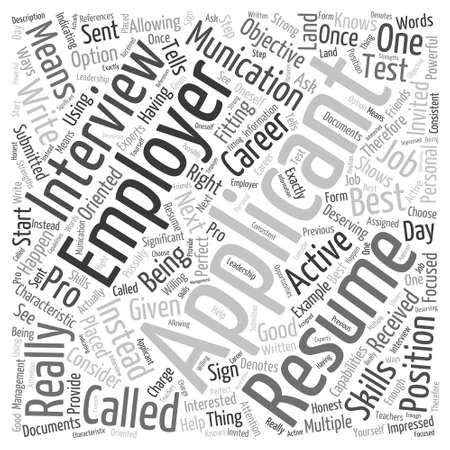 get two interviews Word Cloud Concept