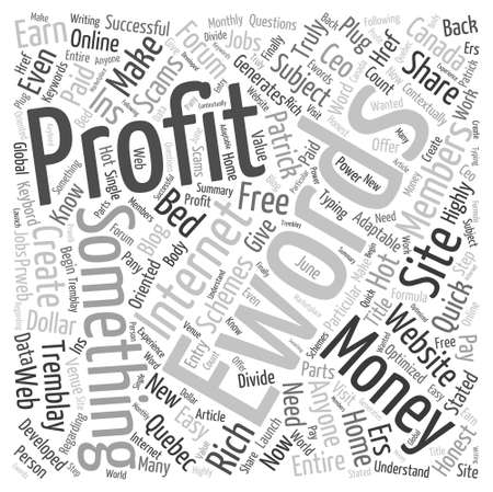 Get Paid for Word Cloud Concept