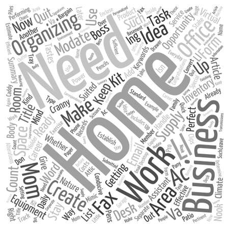 Getting your home Word Cloud Concept