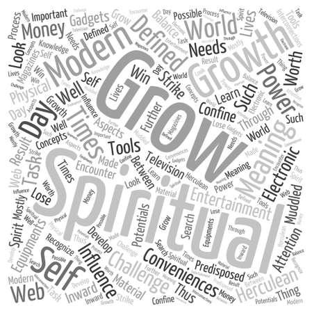 Grow spiritually a Word Cloud Concept