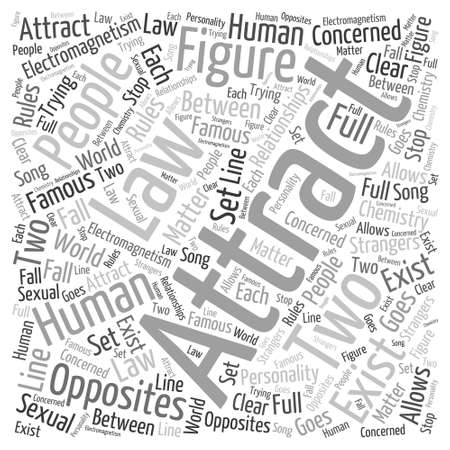 harnessing your attraction Word Cloud Concept Ilustrace