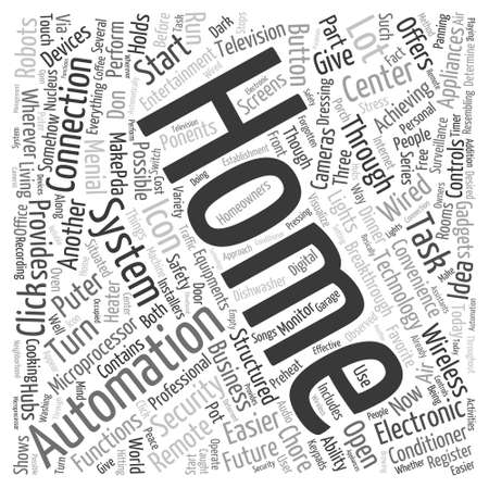 innate: home automation 2 Word Cloud Concept Illustration