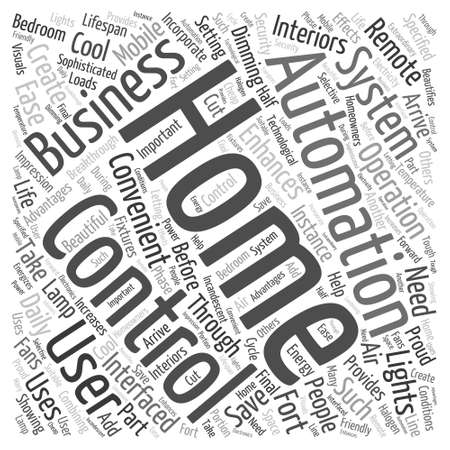 business word: home automation business Word Cloud Concept