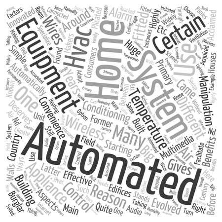 domotique: domotique �quipements Word Cloud Concept