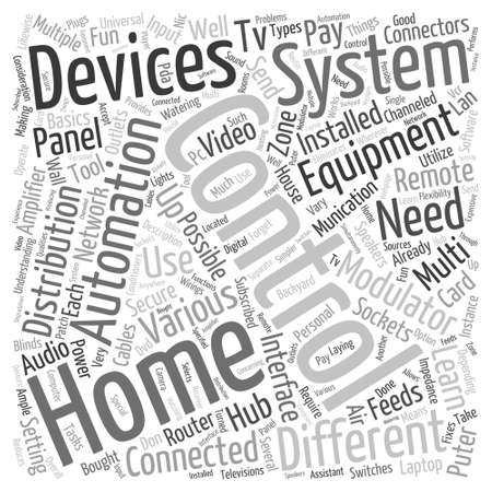 home automation equipment Word Cloud Concept