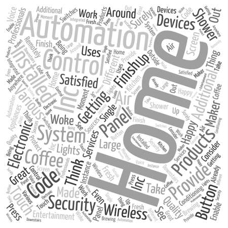 way bill: home automation inc Word Cloud Concept Illustration