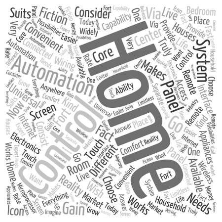 domotique: syst�mes domotiques Word Cloud Concept Illustration