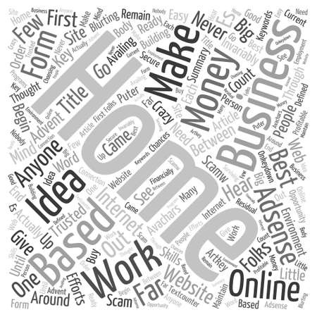 home based business Word Cloud Concept